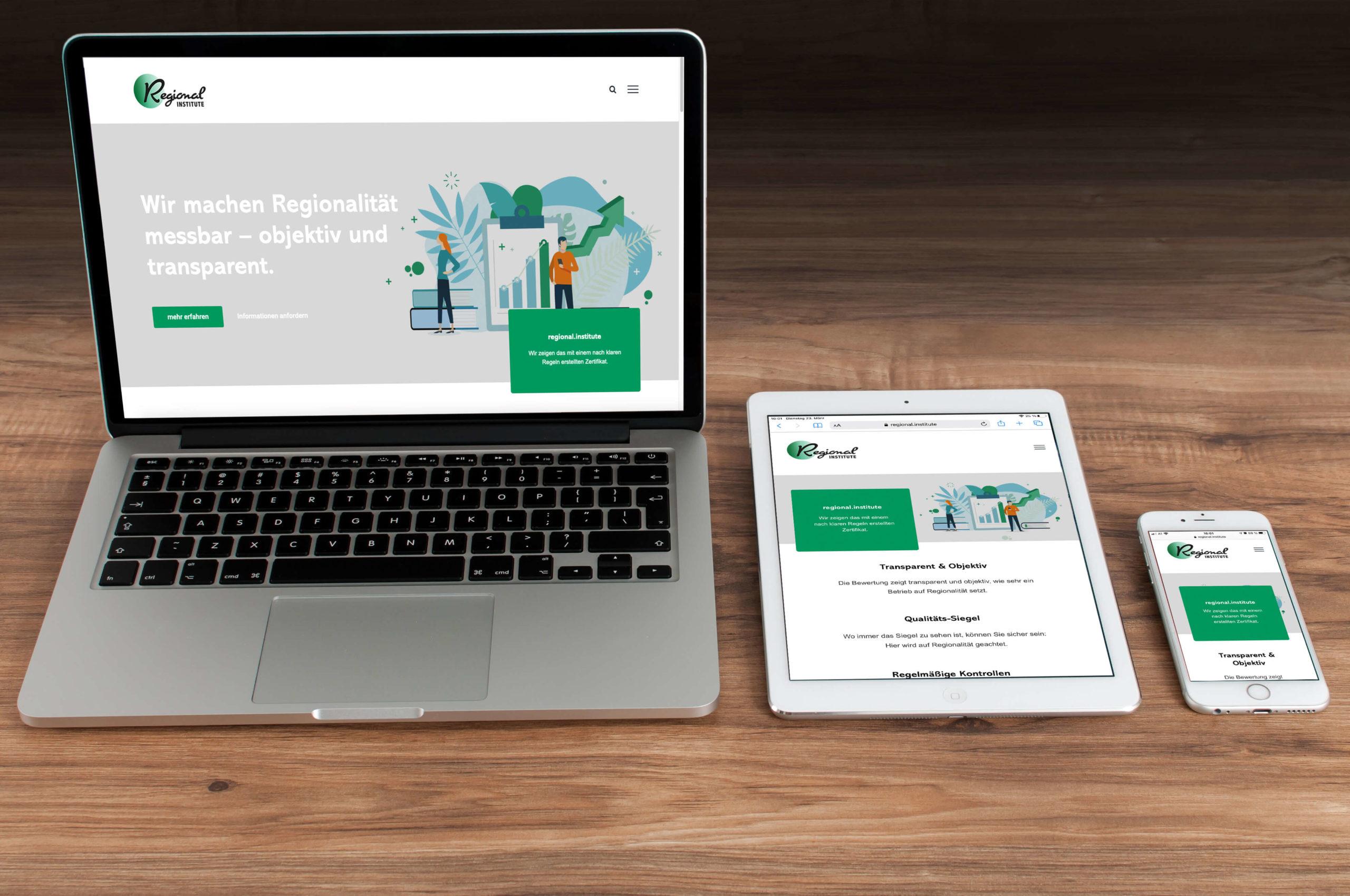 Website regional institute Creative Content Dornbirn - Maßgeschneiderte Projekte